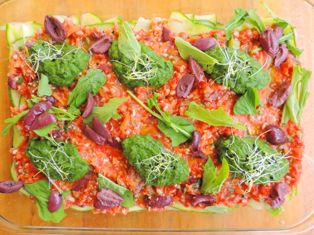 insalata, lasagna crudista